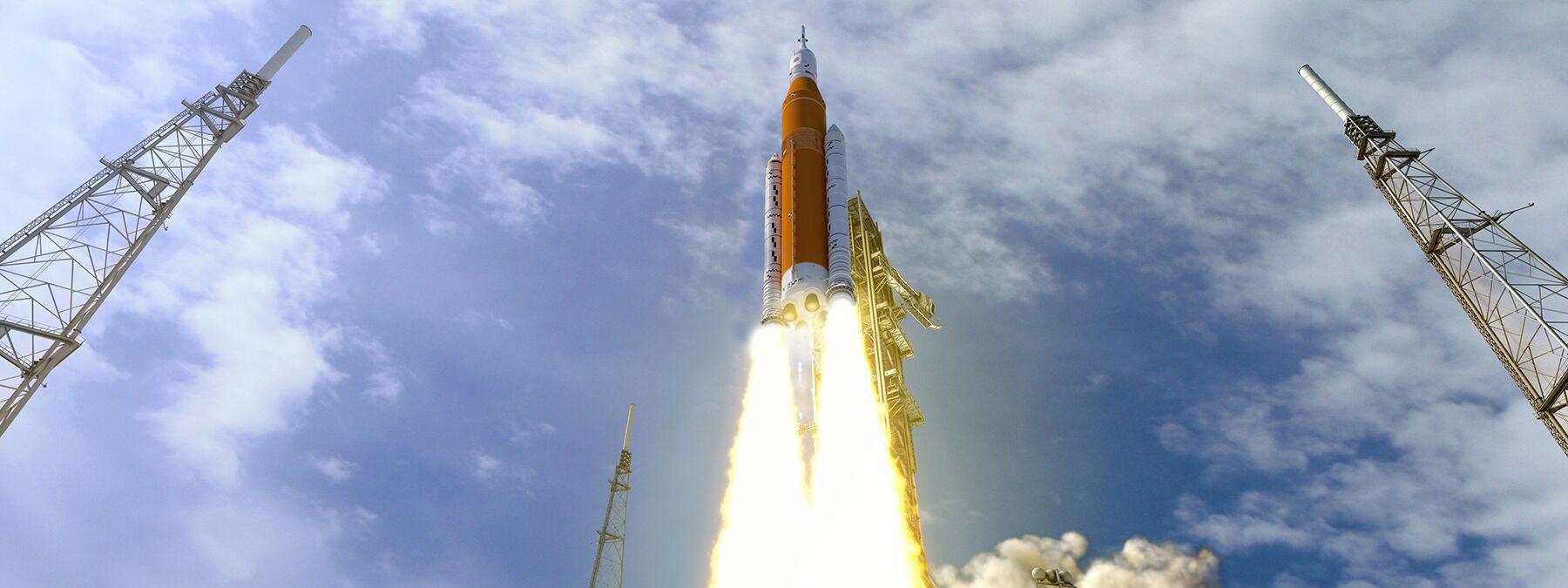 NASA STS rocket launch