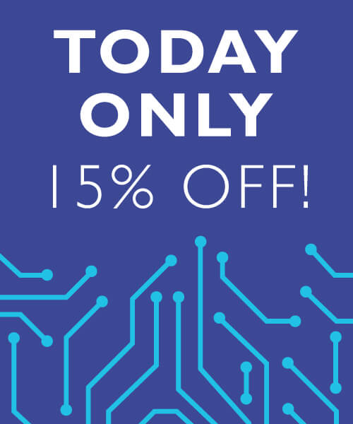 Today only 15% Off Sale Sign