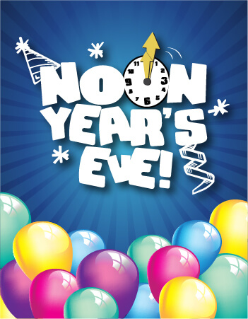 Noon Year's Eve Flyer