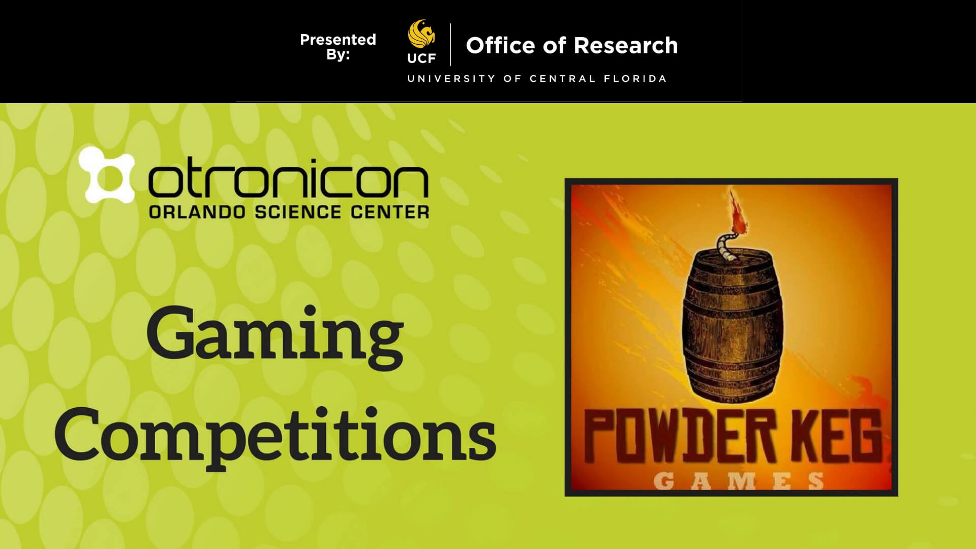 Otronicon Powder Keg Gaming Competitions Flyer