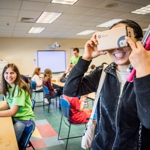 Teen involved in a workshop at Otronicon