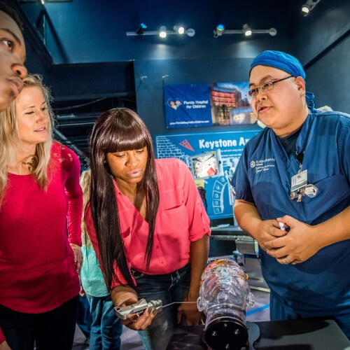 Guests in exhibit