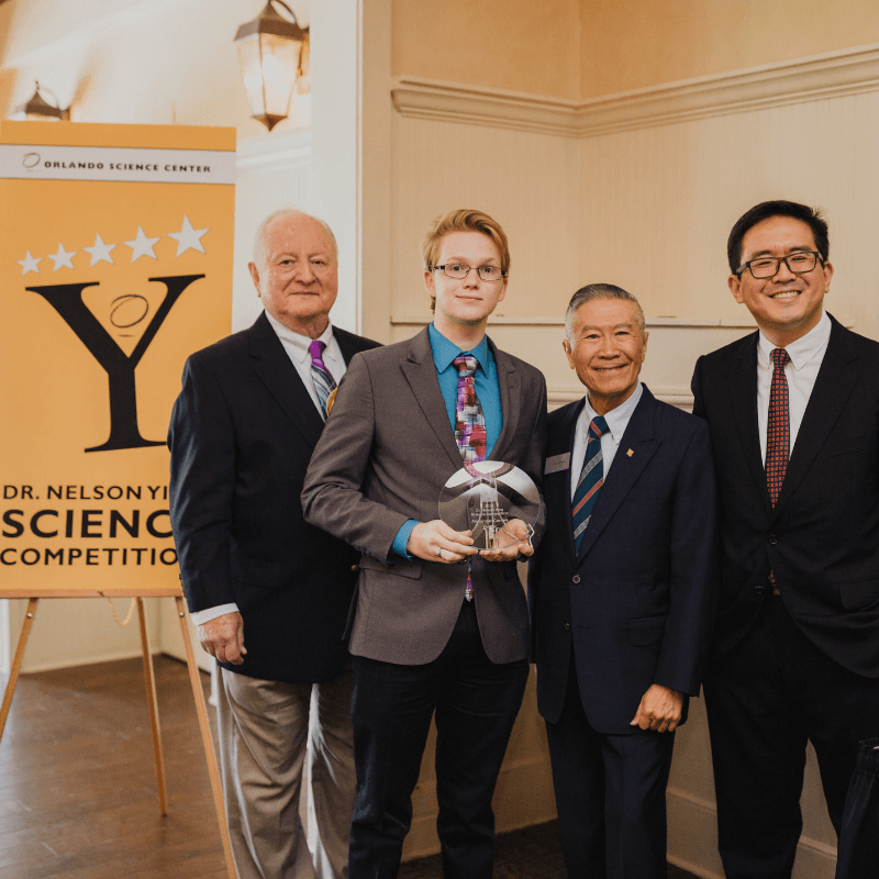 Alex Carnes, Second Runner Up of the Dr. Ying Science Competition