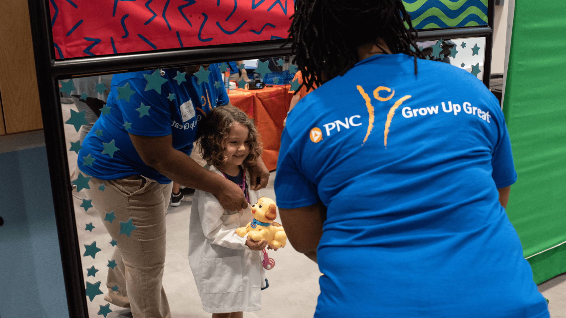 Kid during PNC Grow Up Great Event