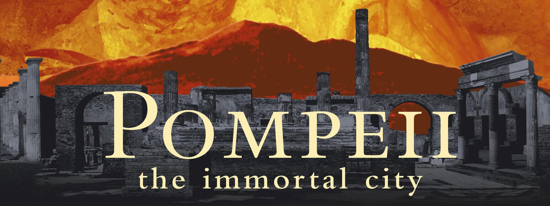 Pompeii the immortal city logo