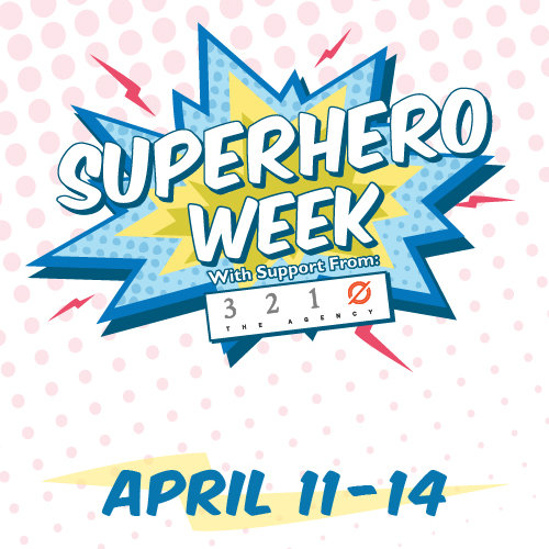 Superhero Week graphic