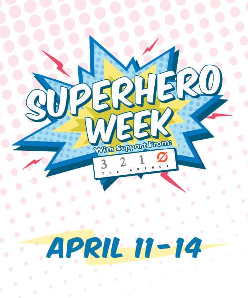 Superhero Week graphic