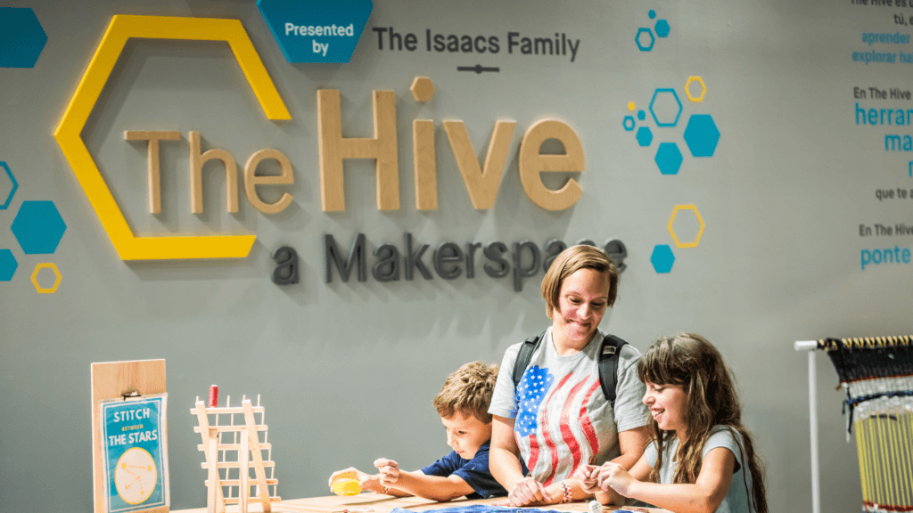 Guests enjoying The Hive: A Makerspace