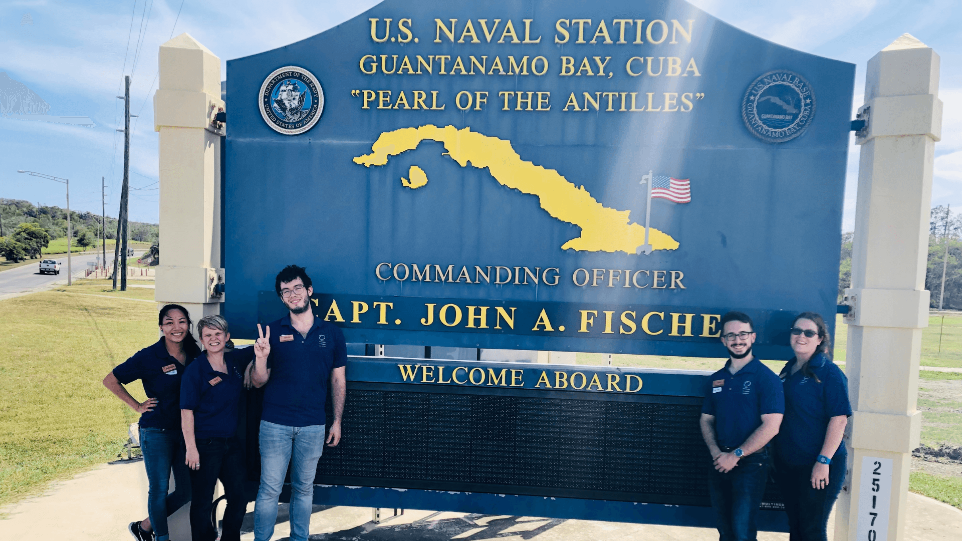 Education outreach team in Guantanamo Bay