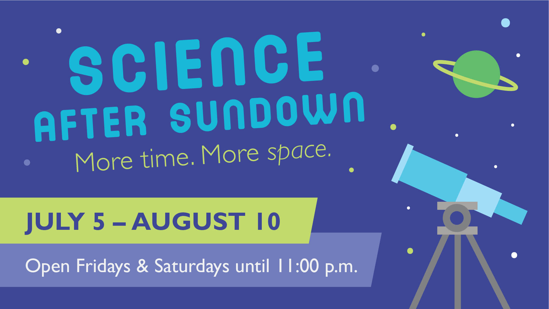 Science after sundown event