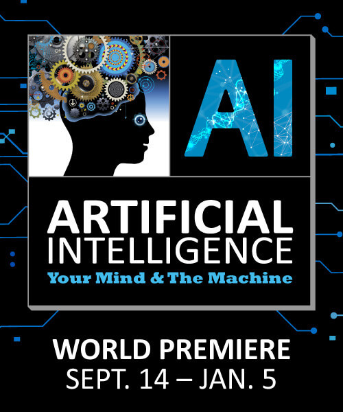 Artificial Intelligence: Your Mind & The Machine Logo - September 14 - January 5