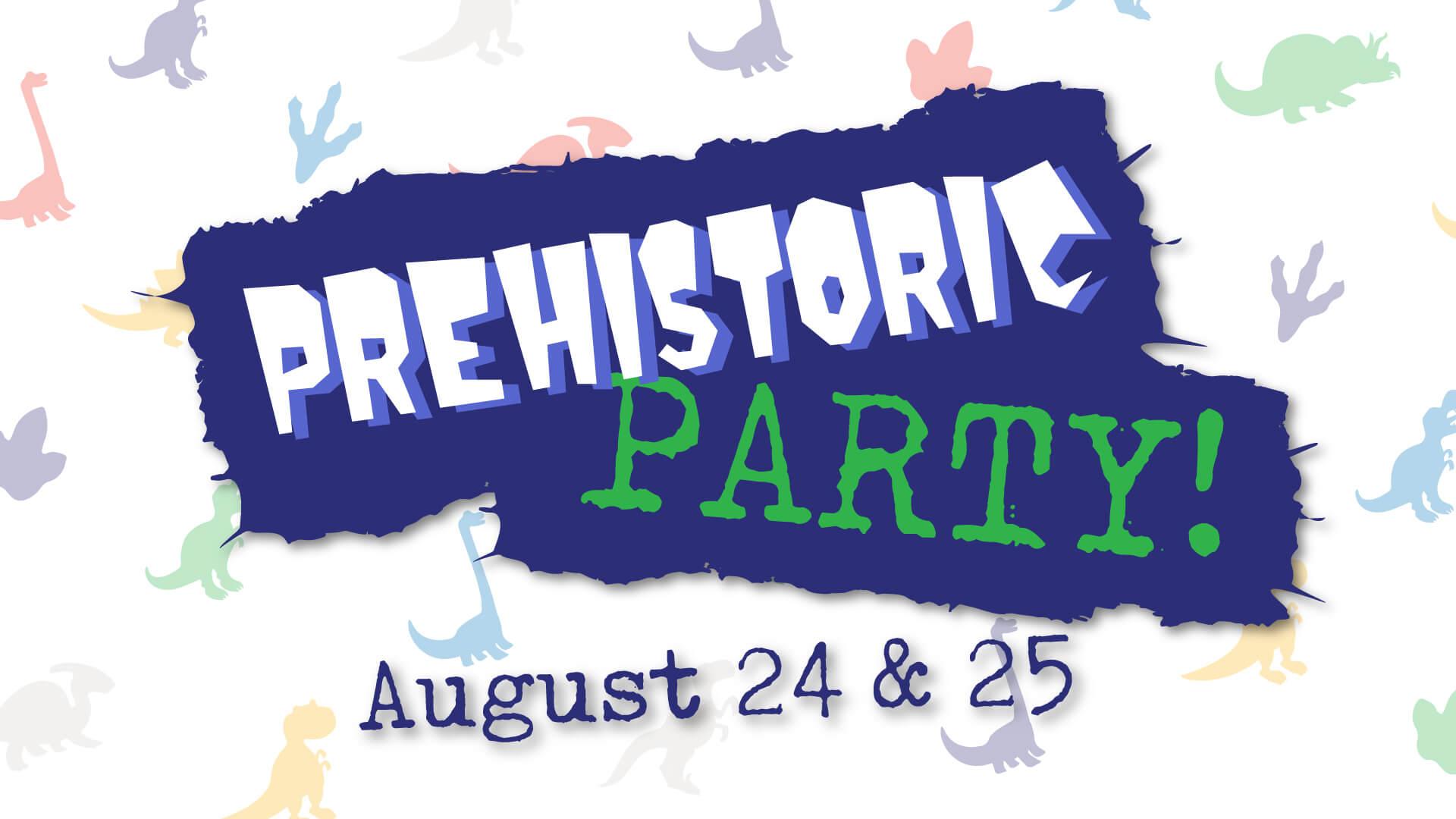 Prehistoric party flyer
