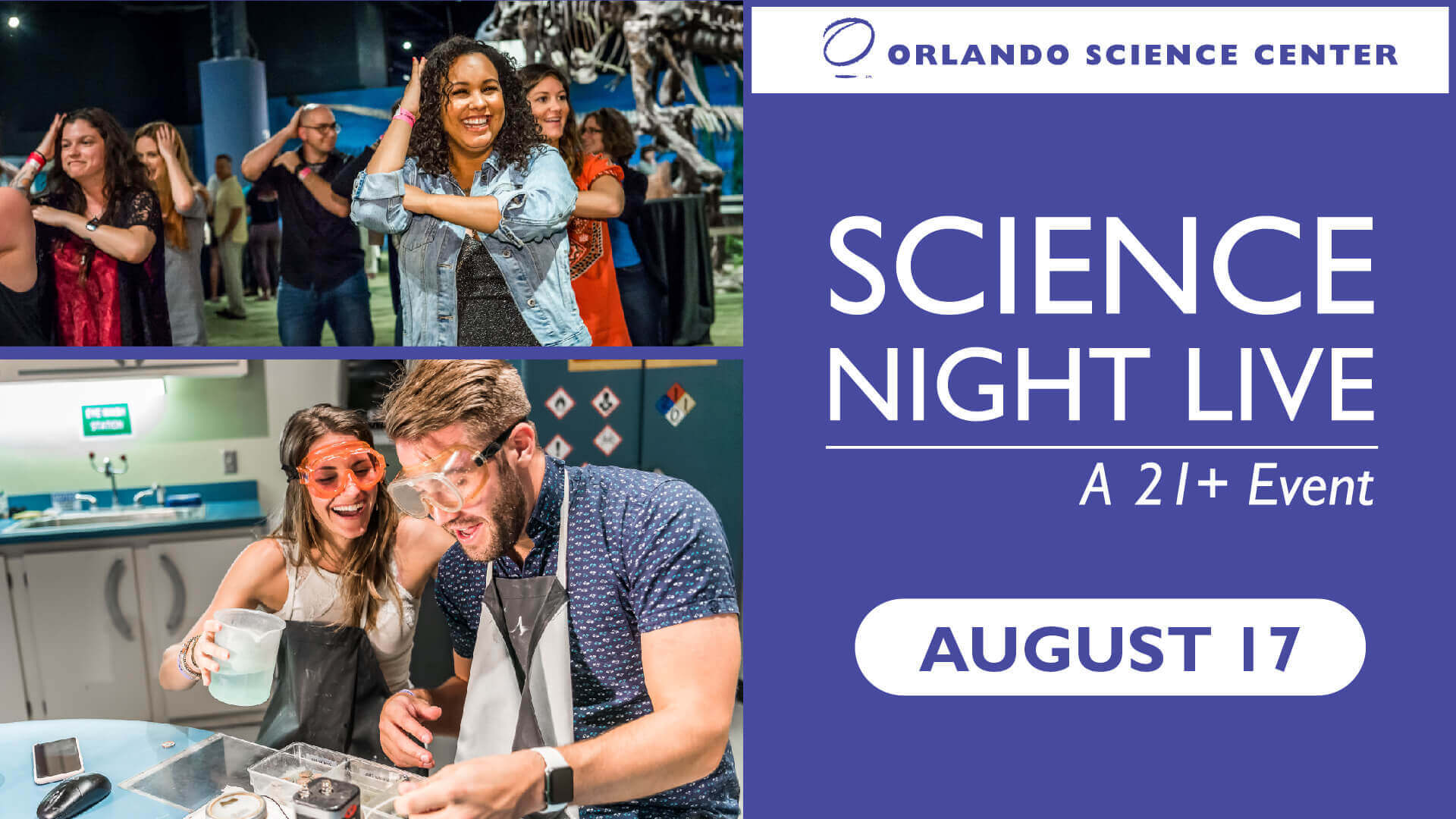 Science Night Live August 2019 Graphic