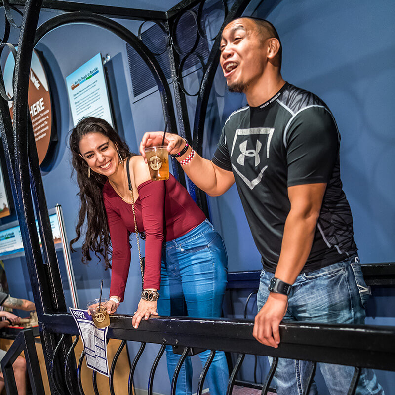 Two guests exploring exhibits at the Science Center.
