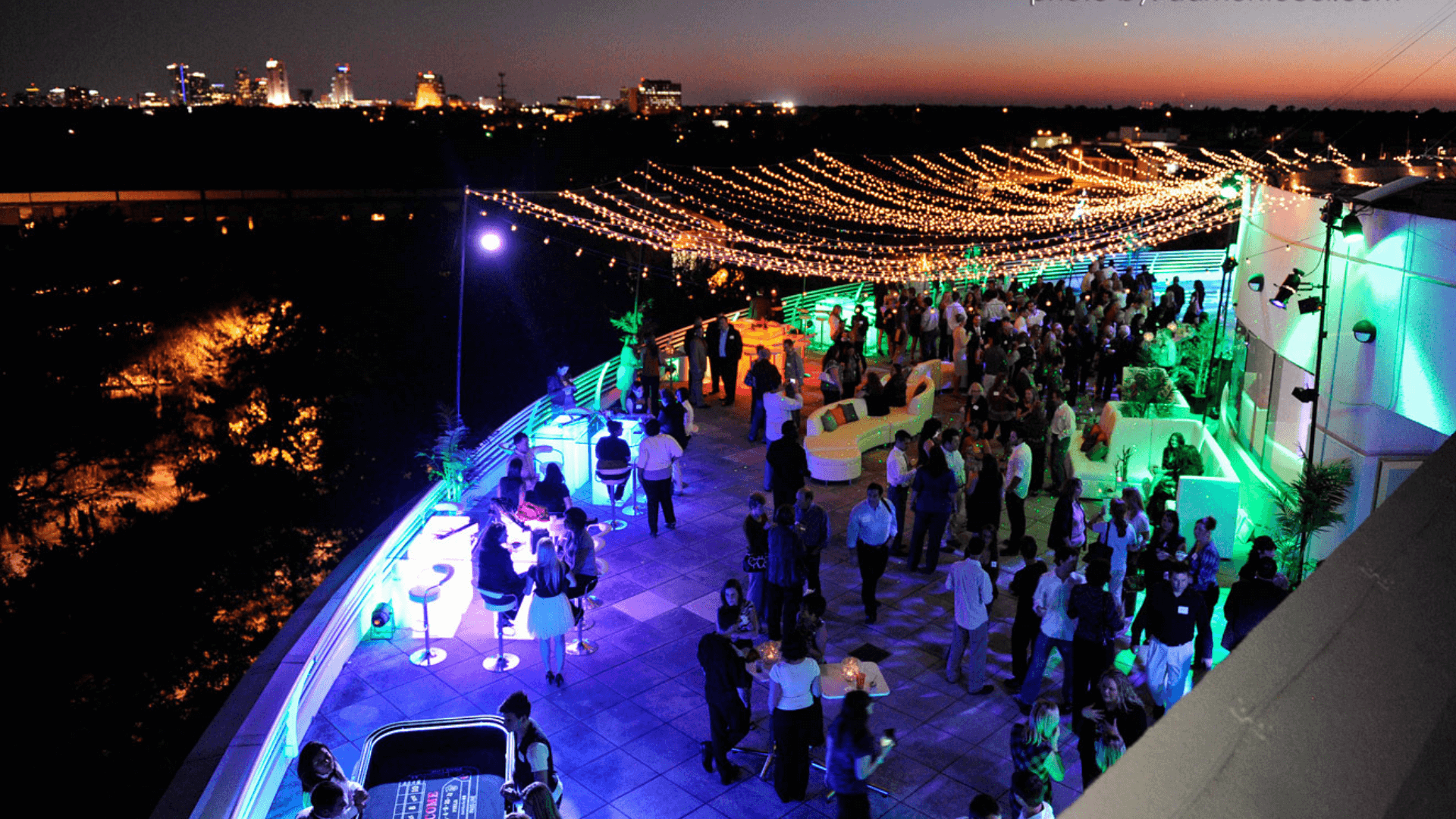 Event on the terrace at night