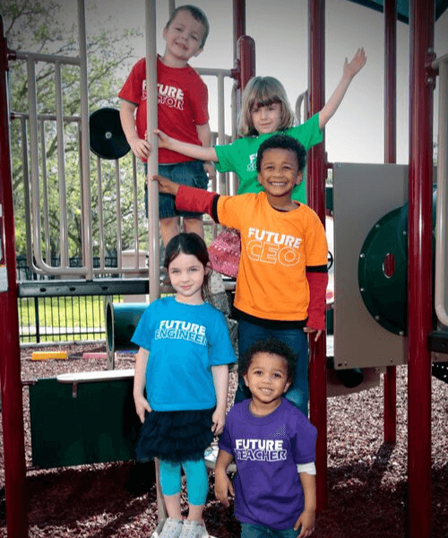 Kids in the science center playground