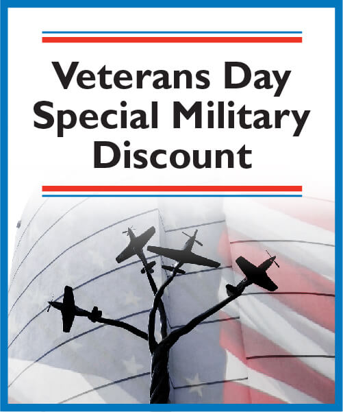 Veterans Day Special Military Discount flyer
