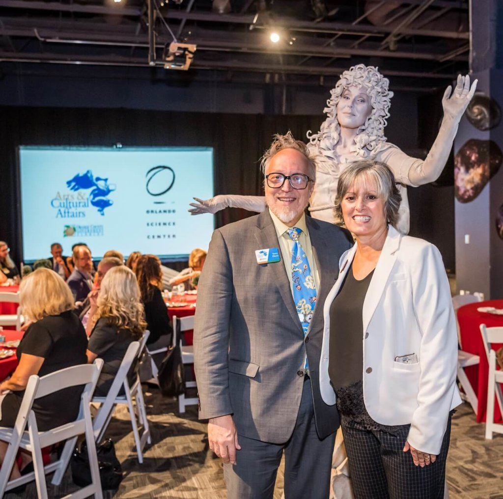Terry Olsen and JoAnn Newman from Orange County Arts and Cultural Affairs and Orlando Science Center