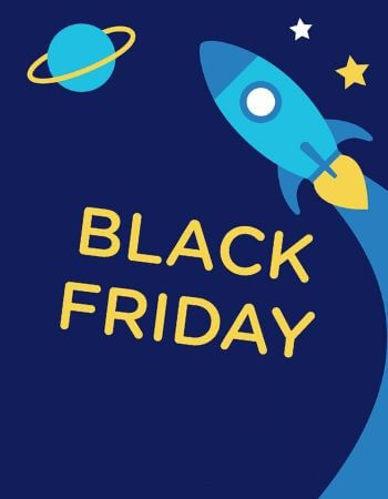 Black Friday on Space background