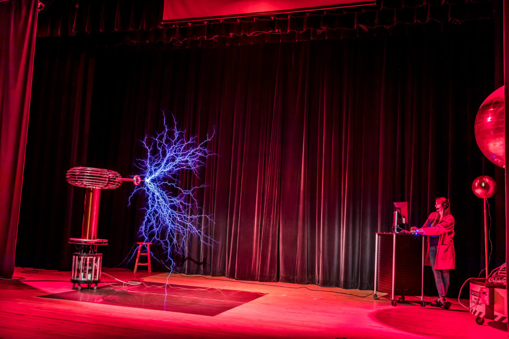 Tesla coil electricity