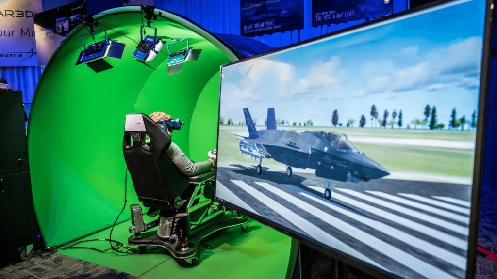 Guest using military simulators