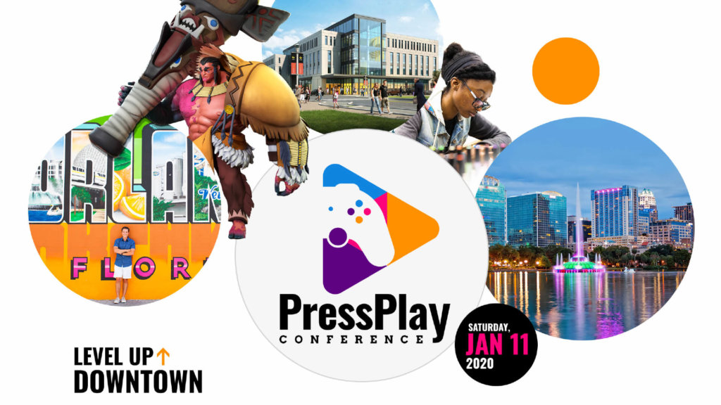 Press Play - Level Up Downtown Logo