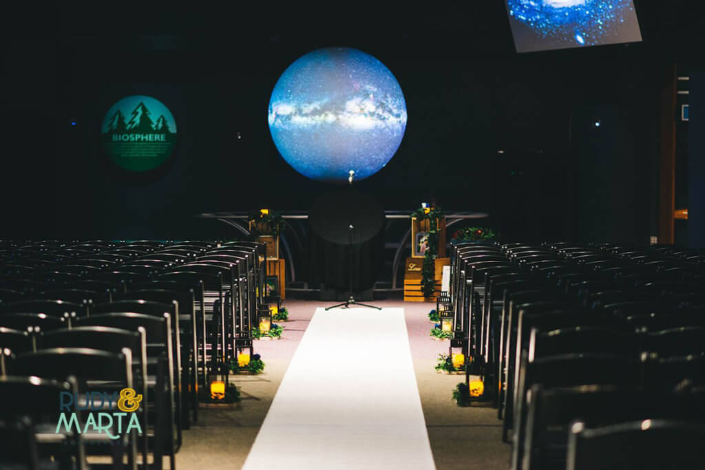 Wedding setup in Our Planet.