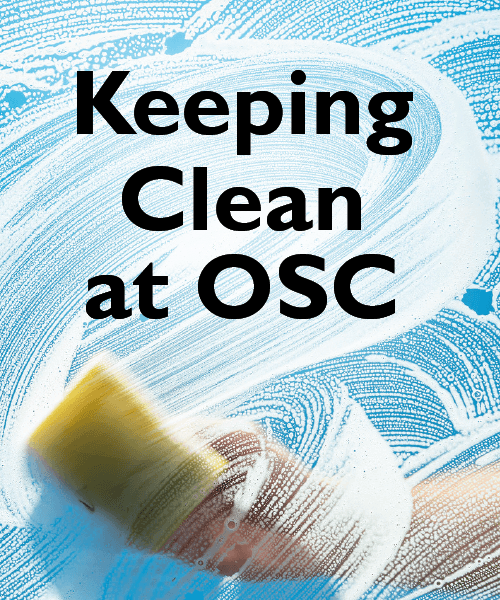 Keeping Clean At OSC - image of washing window
