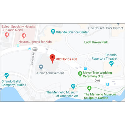 Google Maps image of Orlando Science Center Parking Garage