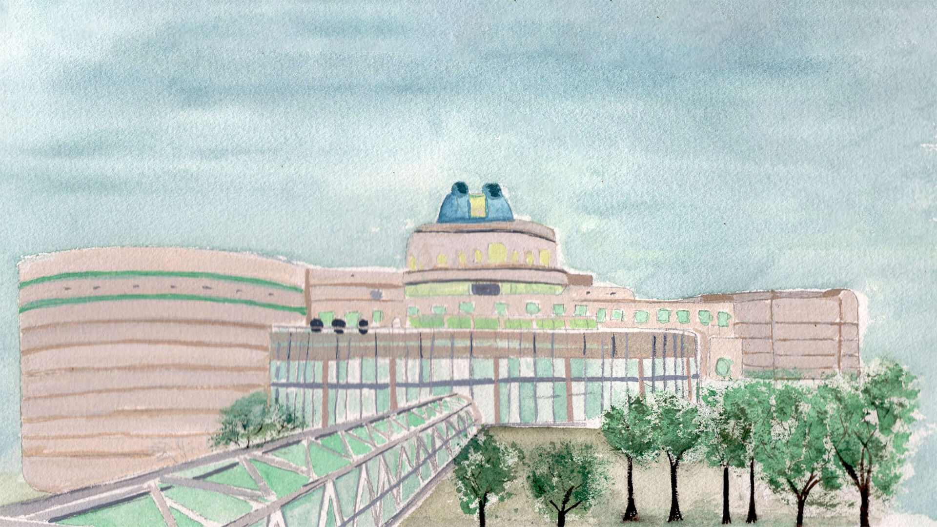 Watercolor Image of Orlando Science Center