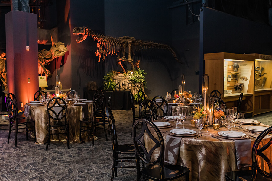 Wedding table setting in DinoDigs