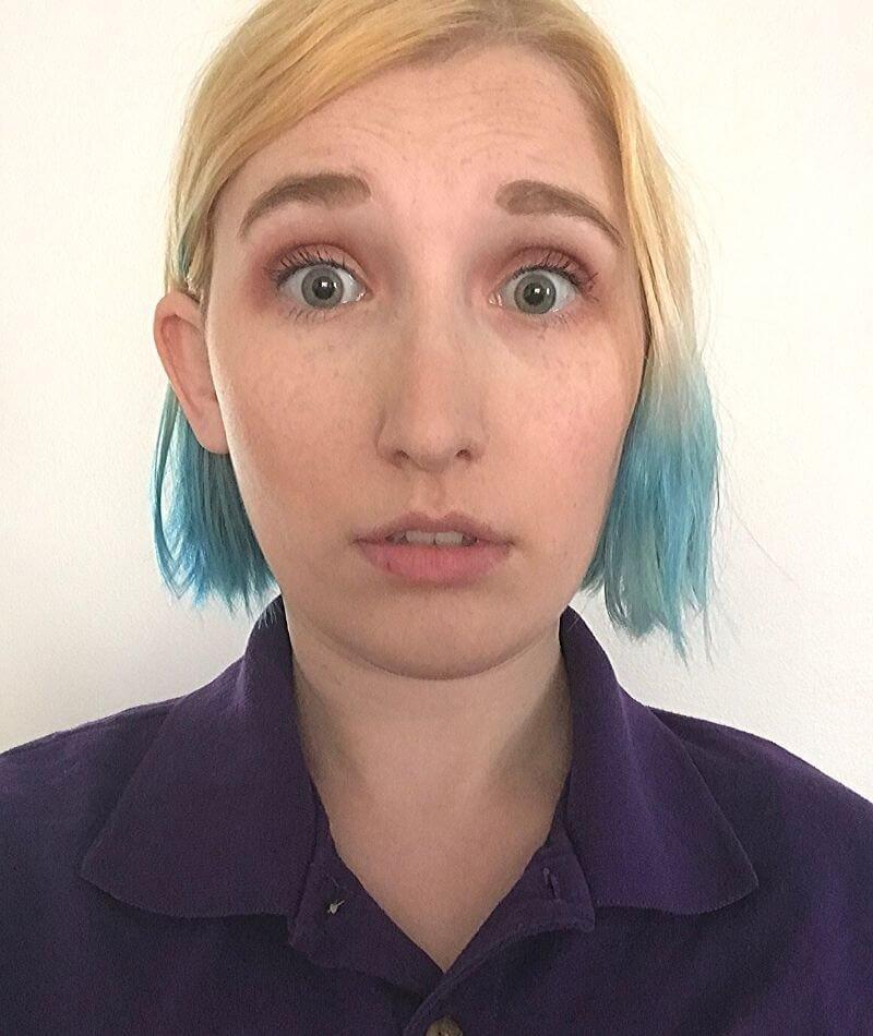 Woman face showing surprise
