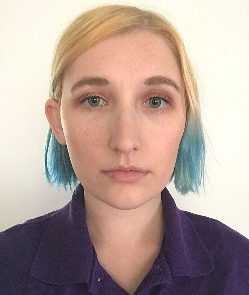 Woman face with neutral expression