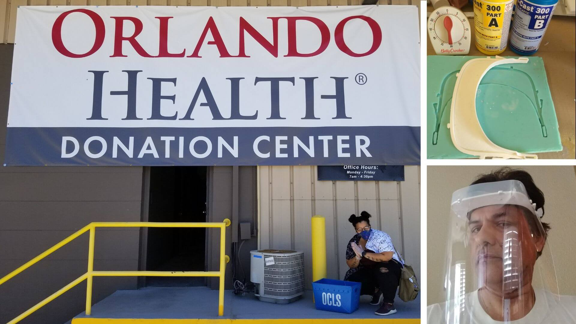 Orange County Library System's Melrose Center make PPE equipment for Orlando Health