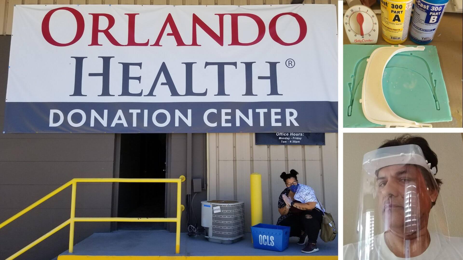 Orange County Library System's Melrose Center make PPE equipment for Orlando Health