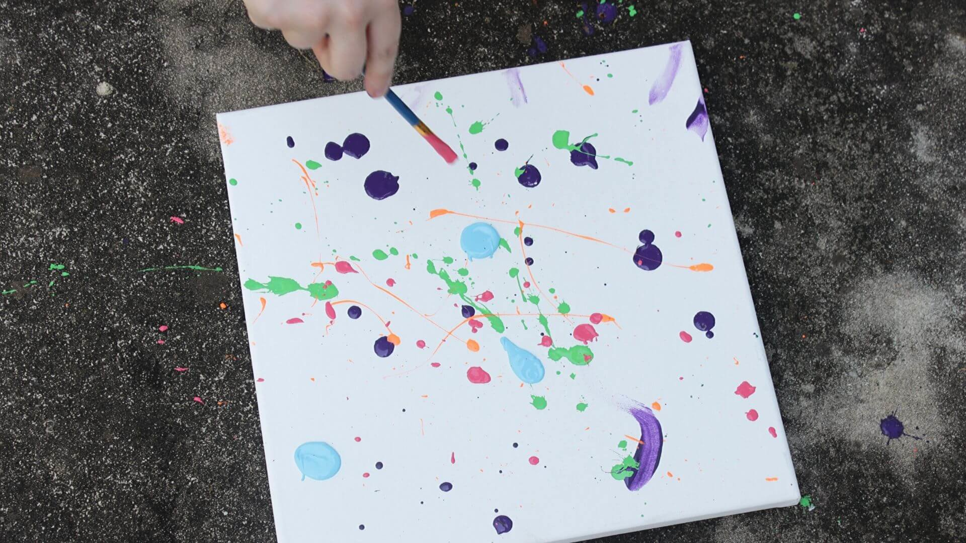 Forensic science painting being done outside