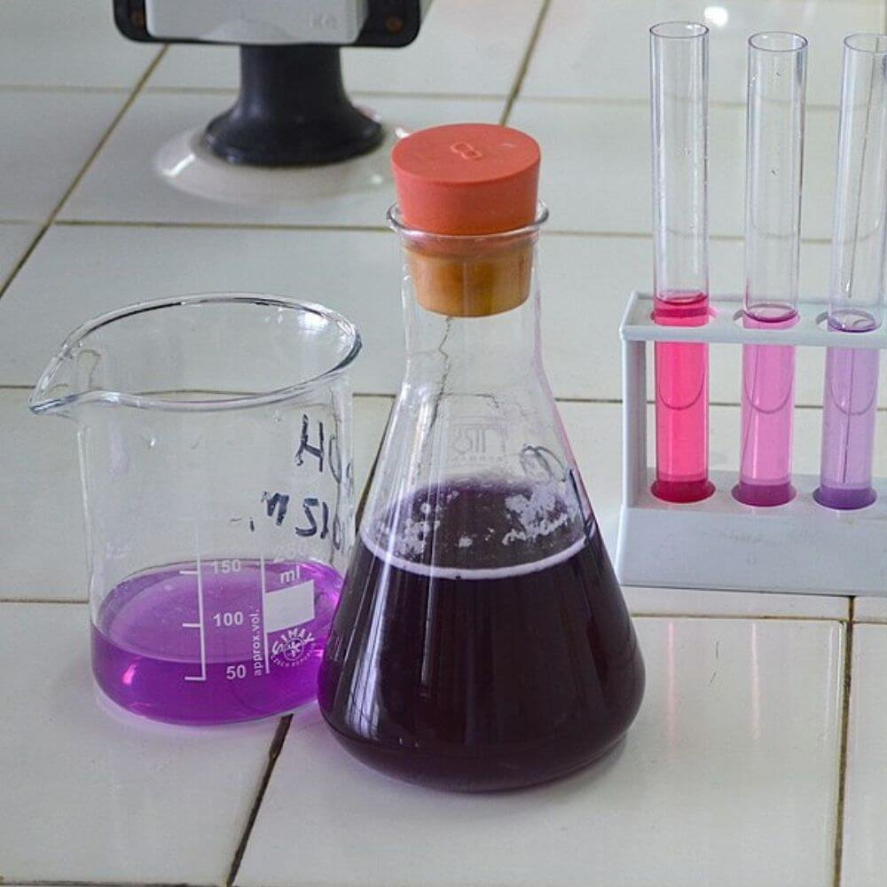 Result of blending red cabbage to create diy ph indicator