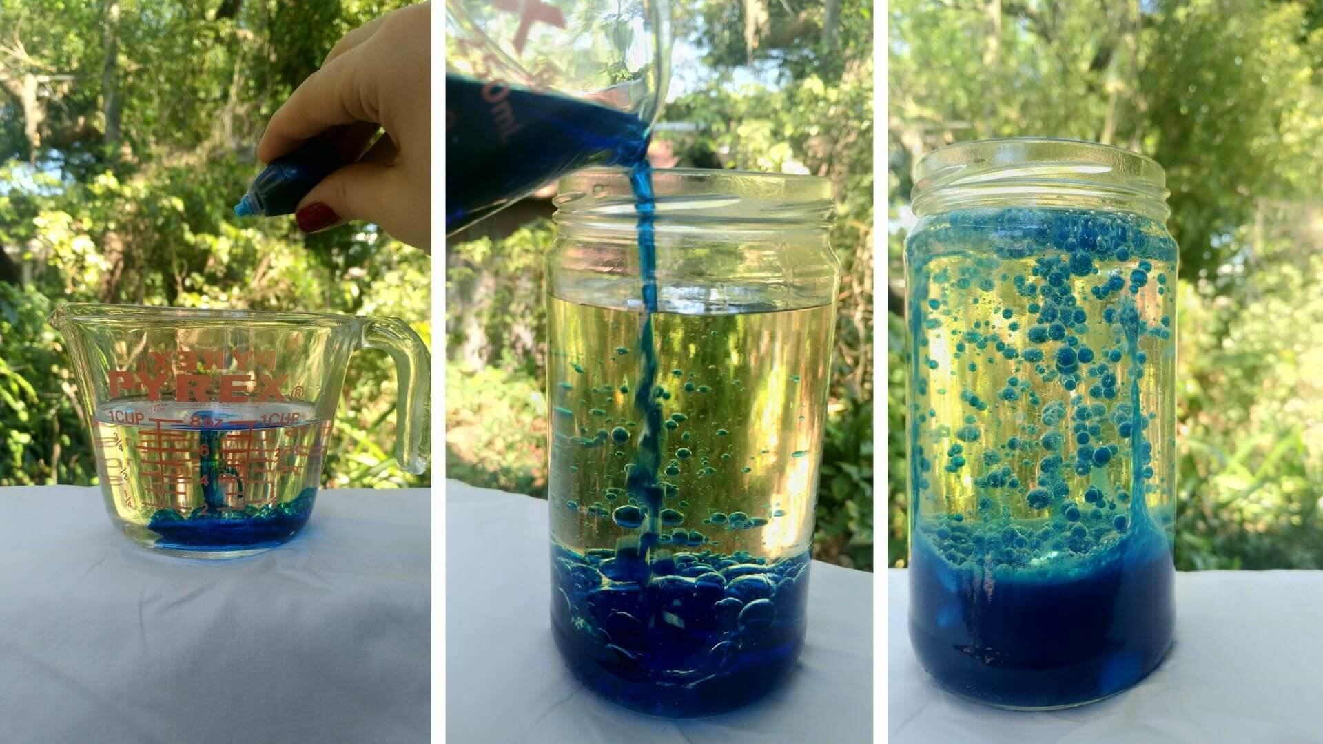Steps to making a DIY density lava lamp with Orlando Science Center