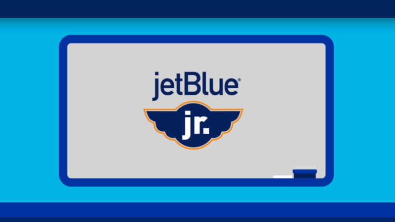 Image of JetBlue Jr. website