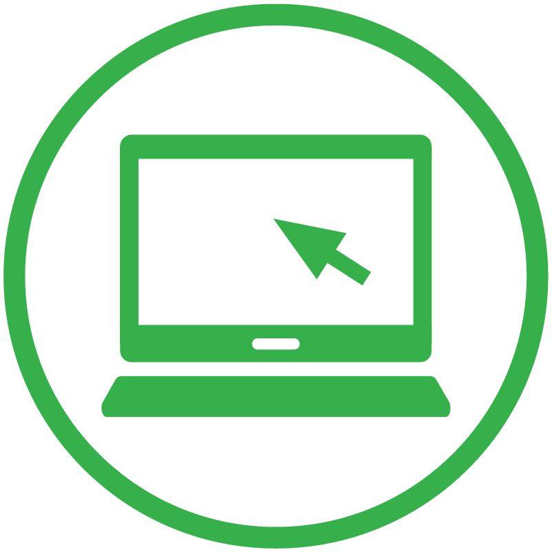 Icon showing online purchasing