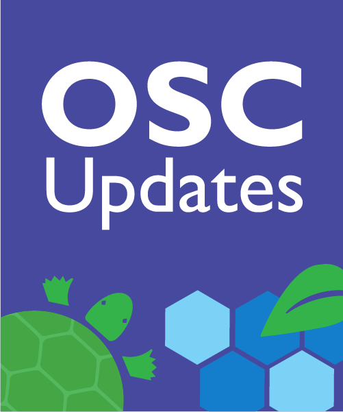 OSC Updates - illustrations of turtle, leaf and honeycomb.