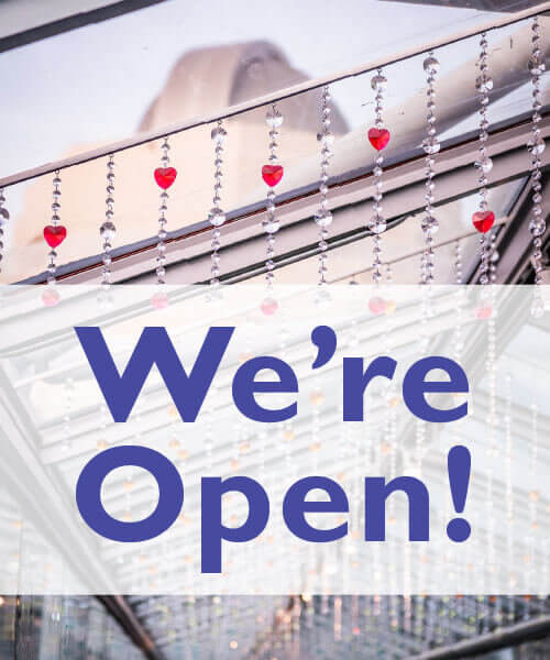 We're Open! - Image facing down the love bridge at Orlando Science Center
