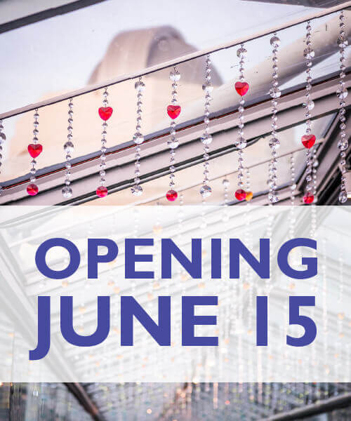 Opening June 15 - Image facing down the love bridge at Orlando Science Center