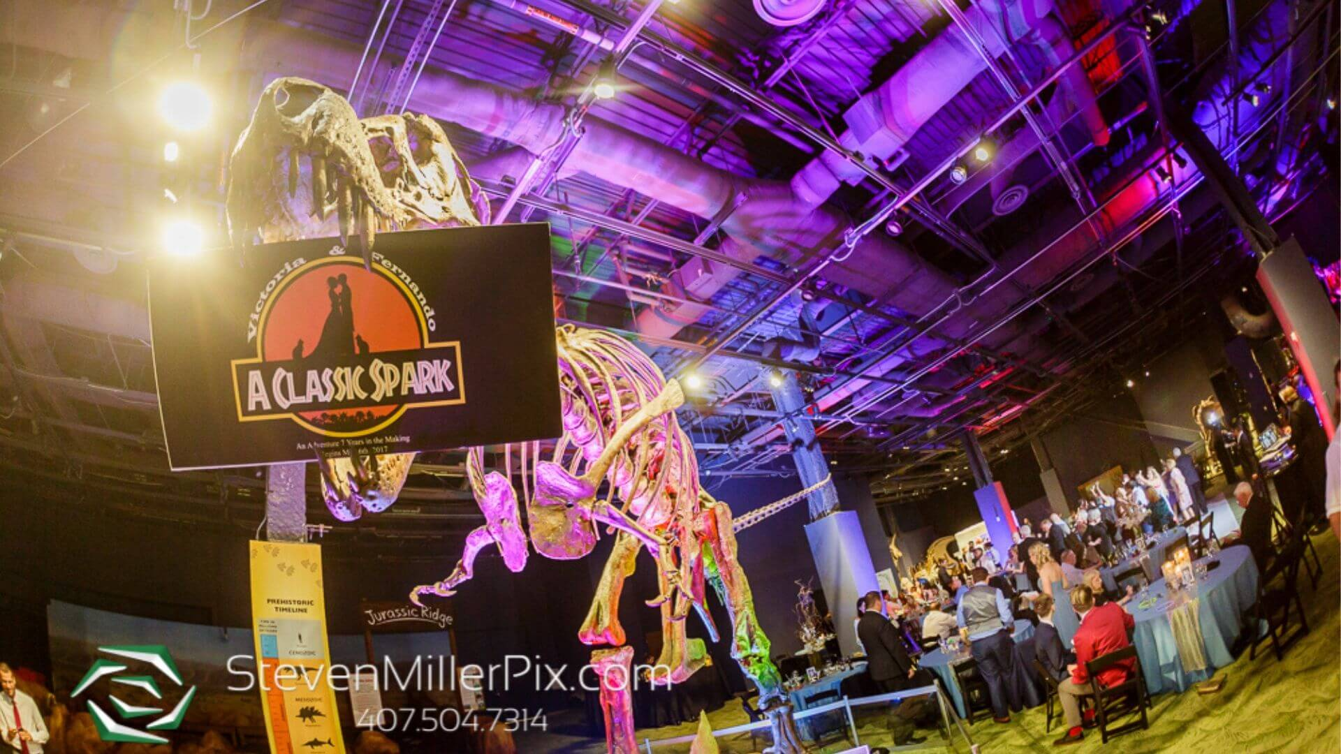 Orlando Science Center Dinosaur Wedding