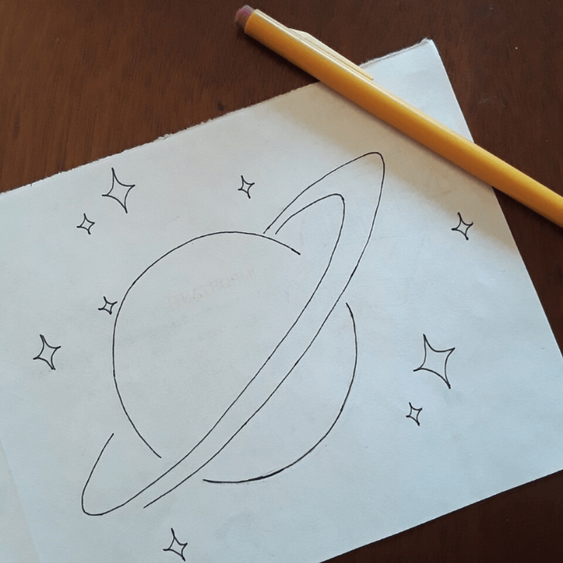 use a pencil to sketch out the design you want to try puffy paint technique