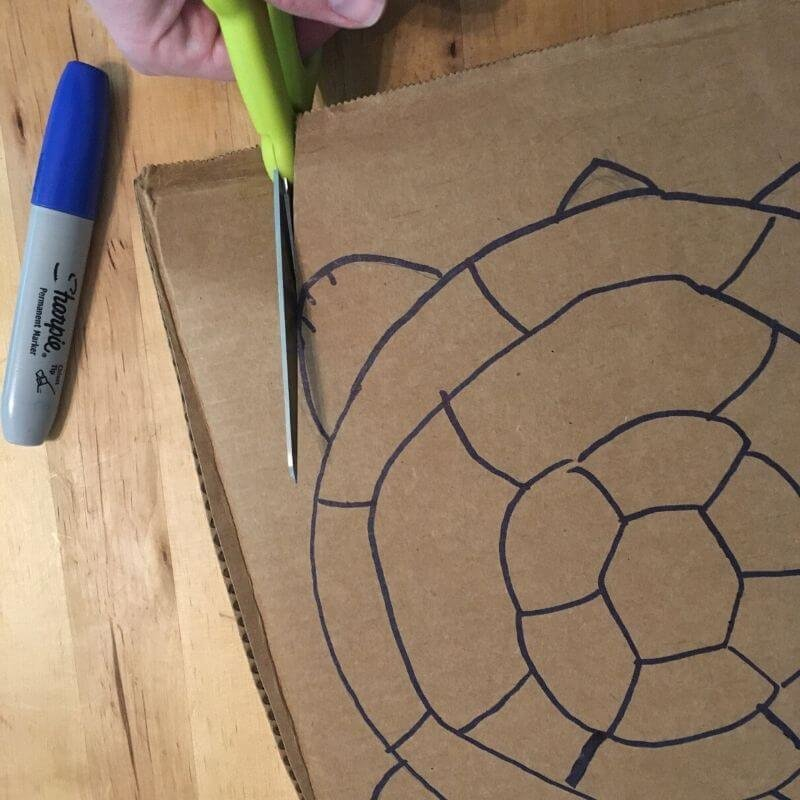 cut out Materials for articulated cardboard crafts