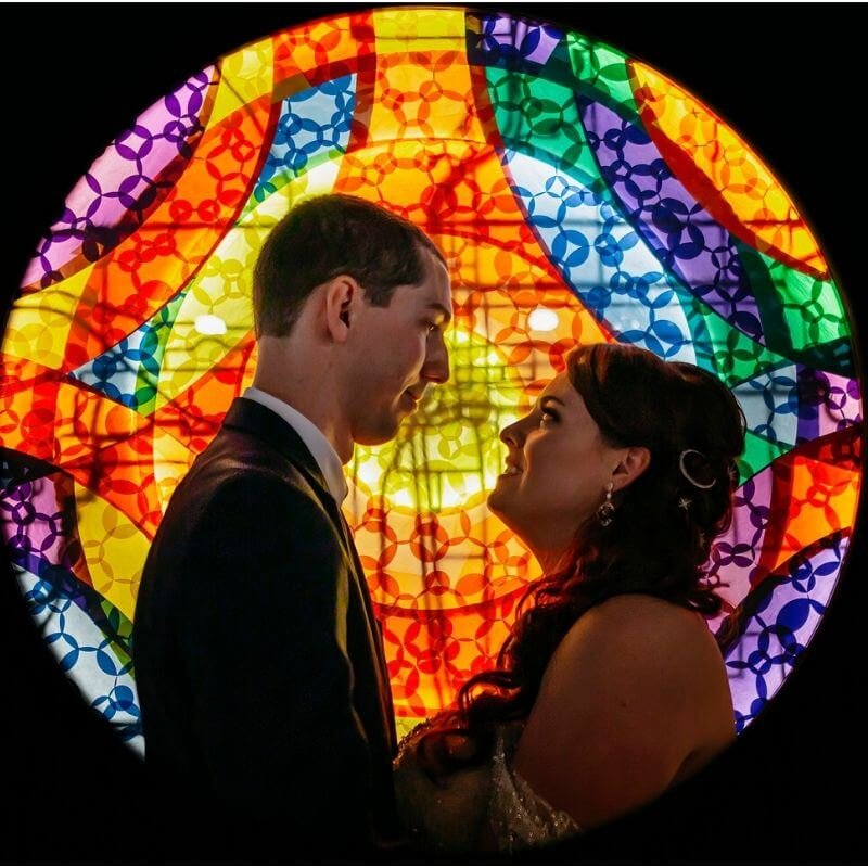 Best Wedding Portrait Backdrops in Orland colorful