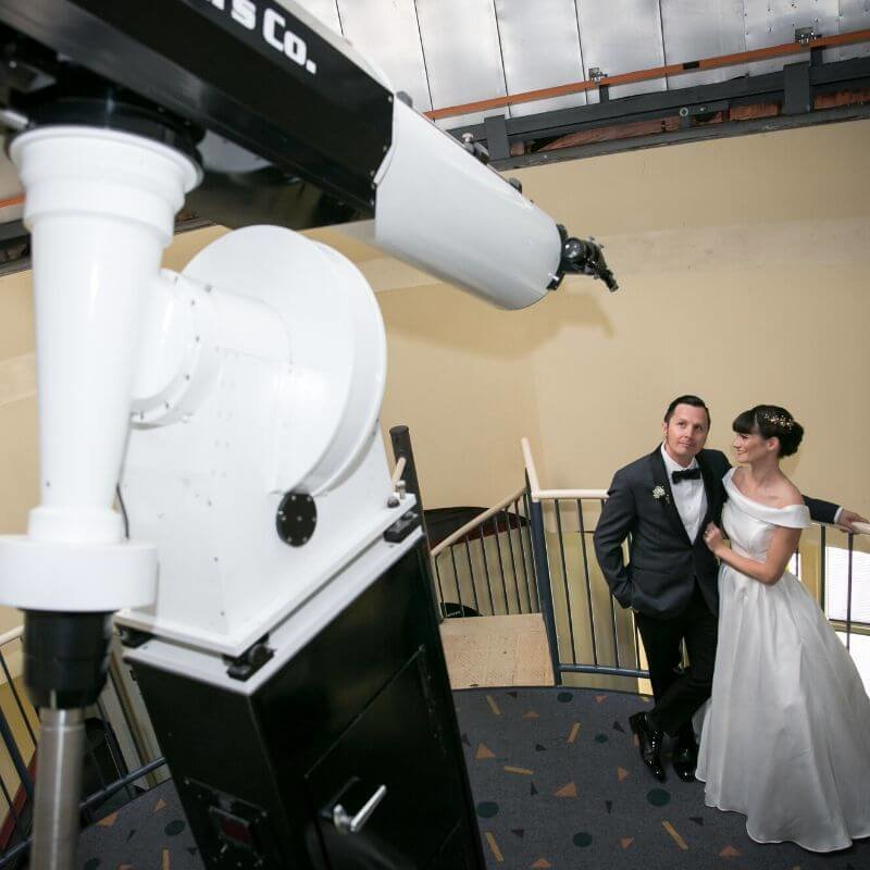 Best Wedding Portrait Backdrops in Orlando - telescope