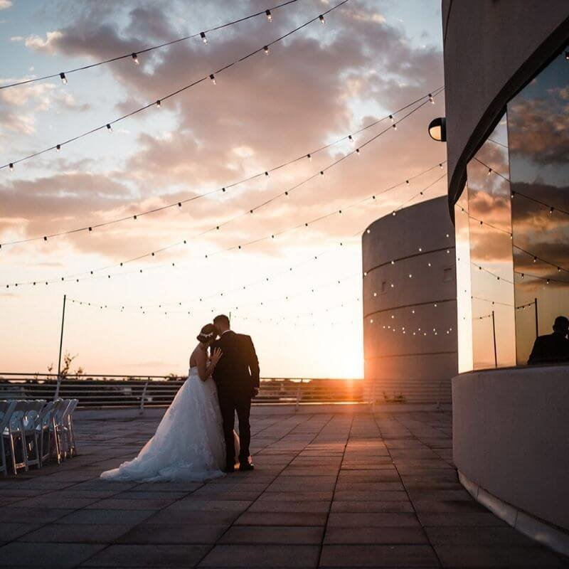 best wedding portrait backdrops in Orlando sunset