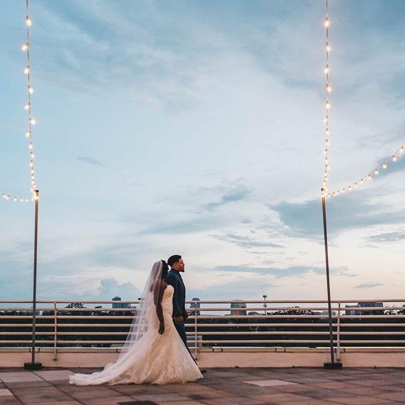 best wedding portrait backdrops in Orlando outdoor venue